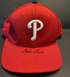 EXCEPTIONAL GALEN CISCO SINGLE SIGNED PHILDELPHIA PHILLIES BASEBALL MLB CAP