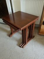 VINTAGE G PLAN FRESCO NEST OF 3  RETRO TEAK TABLES 1960s MID CENTURY DANISH VTG