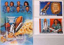 GUINEA 1986 1115-16 Block 221 B C167-69 US Space Shuttle Challanger Disaster MNH