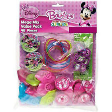 Minnie Mouse Bow-tique Favor Pack Girls Birthday Party Supplies ~ 48pc Toys