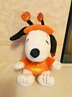 "Hallmark Snoopy Peanuts Halloween 7"" Snoopy Plush Stuffed Orange Pumpkin NEW"