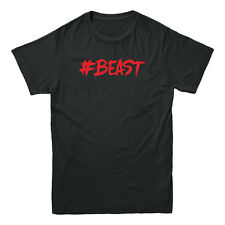 #BEAST Hashtag Animal Workout Crossfit Fitness Body Building Muscle Mens T-shirt