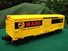 Lionel Custom Made 6-26239 MADD Box Car With Die Cast Sprung Trucks Mint in Box