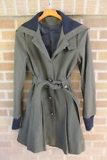 ASOS~Olive Green Heavy Collared Belted Coat~Military~S~$200 *SOLD OUT ONLINE*