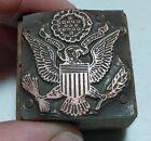 Vintage Letterpress Printing Block United States American Eagle Seal Symbol
