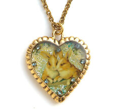 Maximal Art Necklace Easter Bunny Gold John Wind Jewelry New