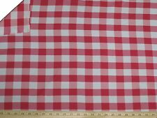 """10 Yards Checkered Fabric 60"""" Wide Gingham Buffalo Check Tablelcoth Fabric Decor"""