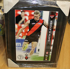 DUSTIN FLETCHER HAND SIGNED AFLPA 12x18 PHOTO FRAMED + OFFICIAL AFLPA COA