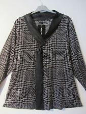 JEAN MARC PHILIPPE Long Shirt Tunika Lederoptik schwarz nougat 48-50 T6