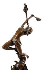 Elegante bronzo personaggio-FIAMME ballerina per (1930) - Ferdinand Preiss