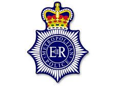 3x4 inch Metropolitan Police Badge Shaped Sticker - officer england london metro