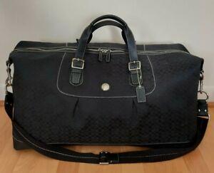 Coach Signature Black Travel Weekender Duffle Crossbody Shoulder Bag F77115
