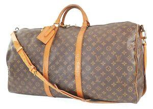 Auth LOUIS VUITTON Keepall Bandouliere 60 Monogram Canvas Duffel Bag #39147