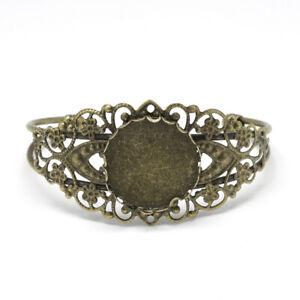 bracelet bronze pour support cabochon 25 mm filigranne