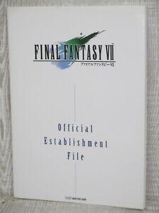 FINAL FANTASY VII 7 Establishment File w/Poster Guide Fan Book 1997 AP14
