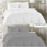 100% EGYPTIAN COTTON 400 THREAD COUNT DUVET QUILT COVER BEDDING SET WHITE GREY