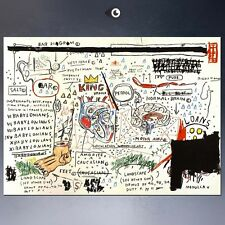 "Jean Michel Basquiat ""King brand"" HD print on canvas large wall picture 32x24"""