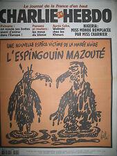 CHARLIE HEBDO 545 MARéE NOIRE NIGERIA GéBé MOUGEY RISS SINé WOLINSKI 2002