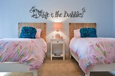 Inspired by The Little Mermaid Wall Decal Sticker Life is the Bubbles