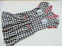 "S'NOB Blue Mix Cotton Shirt Dress Size L Bust 40"" L 42"" Short Sleeve Pockets VGC"