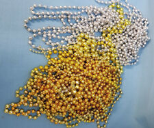 Beads Assorted Mardi Gras Party Mixed Lot Arts Craft Classroom Gold Silver