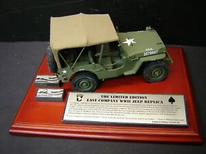 The Limited Edition Easy Company   WWII U.S. Army Jeep Replica  Danbury Mint