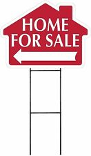 Home For Sale - RED - House Shaped Sign Kit with Stand (K-S110)