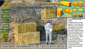 Scale Model Masterpieces/Yorke Freight Boxes-Stacked Pallets #1 S/1:64