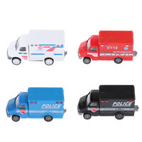 Pull Back Police Ambulance Car Toddler Emergency Vehicle Toy 1/72 Scale Cars