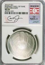 2014-P $1 Cal Ripken Jr. Baseball Hall of Fame NGC MS69 Early Releases
