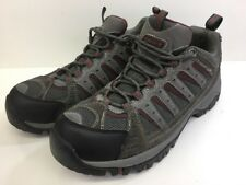 Coleman Men's Low Top Hiking Shoes  Brown Lace Up Gray Leather Size 10 M US