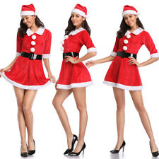 Christmas Costume Red Plus Size S-6X Sexy Santa Xmas Overbust Top Corset Bustier