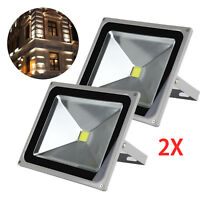 2 Pcs 50W LED Cool White Floodlight IP65 Flood Light Outdoor Wash Lamp 220V New
