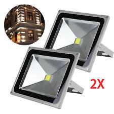 2 Pcs 50W LED Cool White Floodlight IP65 Flood Light Outdoor Wash Lamp 220V New