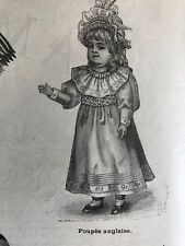 MODE ILLUSTREE SEWING PATTERN Nov 12,1893 BALL GOWNS , DOLLS