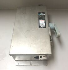 STAINLESS STEEL SAFETY SWITCH 60 AMP 600 VOLT 3 PHASE NEMA 4  SIEMENS  NF352SS