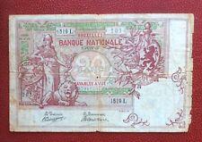 Belgique - Rare Billet de 20 Francs du 3-6-1910 - Rare