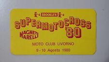 Adesivo Sticker SUPER MOTOCROSS '80 Moto Club Livorno cm 9,5 x 5 circa  Perfetto
