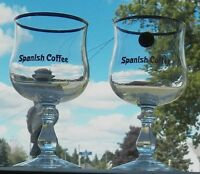 FINE COLLECTIBLES ARE THESE DUROBOR© OF BELGIUM SPANISH COFFEE STEMMED GLASSES