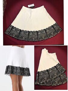 Bebe Lace Hem Sweater Bandage Skirt Size S