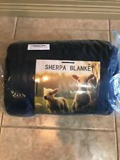 Sherpa Flannel Fleece Reversible Throw Blanket Extra Soft Brush Fabric