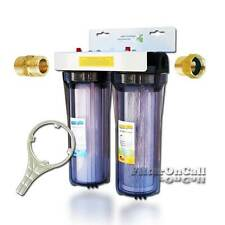 "Custom Build 2 Stage RV Water Filter System Slim Portable 3/4"" Garden Hose"