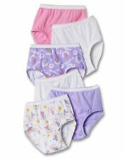 Hanes Toddler Girl Briefs 6Pack 100% Cotton TAGLESS Panties No Ride Up scalloped