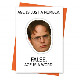 Funny Birthday Card The Office US Dwight Schrute - Age is Just a Number Office