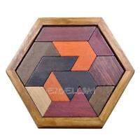 Kids Puzzles Wooden Toys Jigsaw Board Geometric Shape Child Educational Toy E0Xc