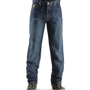 Cinch Western Denim Jeans Mens Black Label Low Dark Wash 46x32