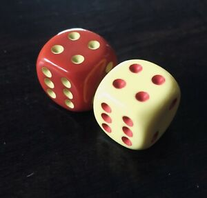 Catan (Red and Yellow Game Dice Set) Official Extra/Replacement Game Piece
