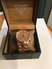 Guess Men's Wrist Watch U16003G1 Steel Rose Gold Brand New