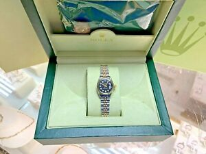 Vintage Rolex Oyster Perpetual Lady Datejust 14K Gold S/S Women's REF 6517