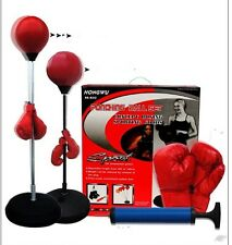 New Boxing Speedball Punching Ball Set & Free Gloves - Adult Size